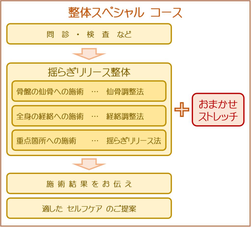 ゆらぎリリース整体 整体スペシャルコース