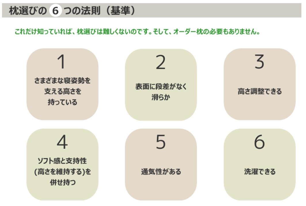 枕選び6つの法則
